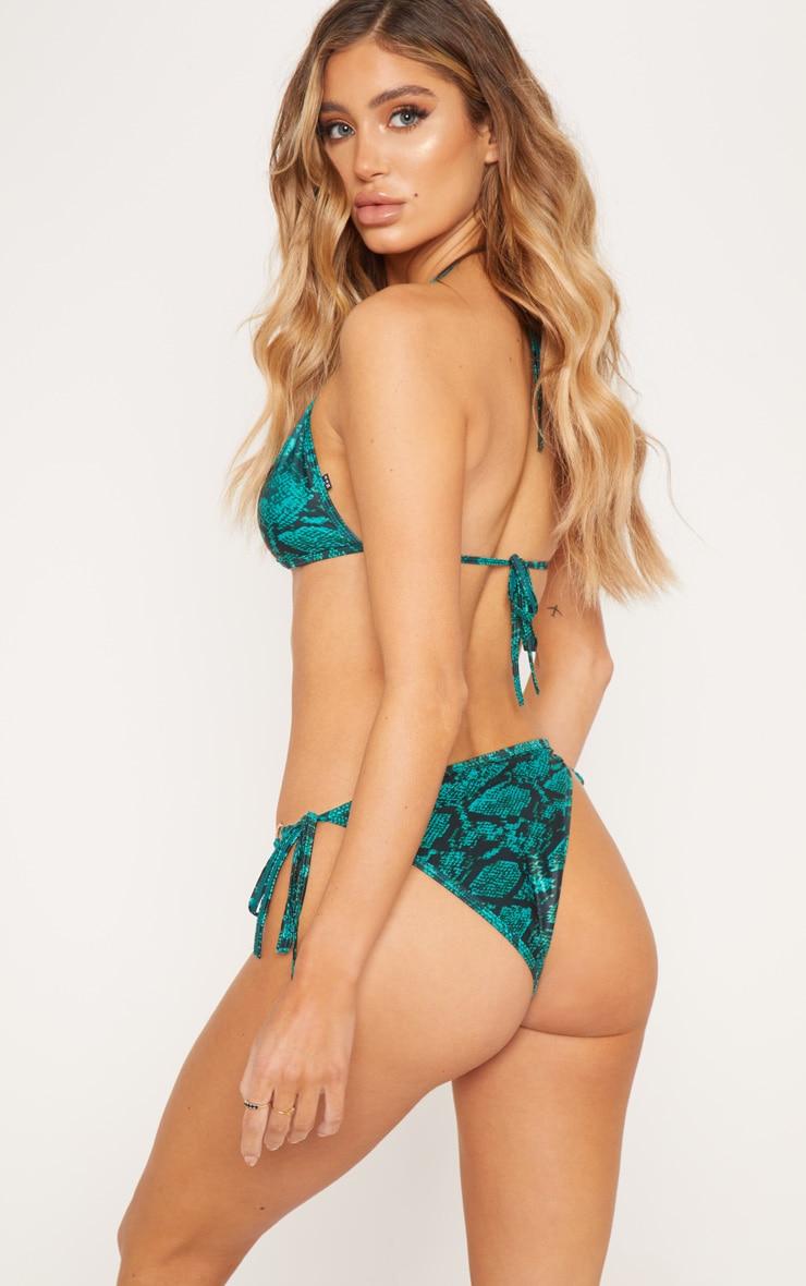 Emerald Bamboo Ring Triangle Bikini Top 2