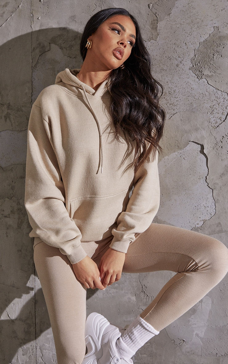 Recycled Sand Oversized Sweat Hoodie 1