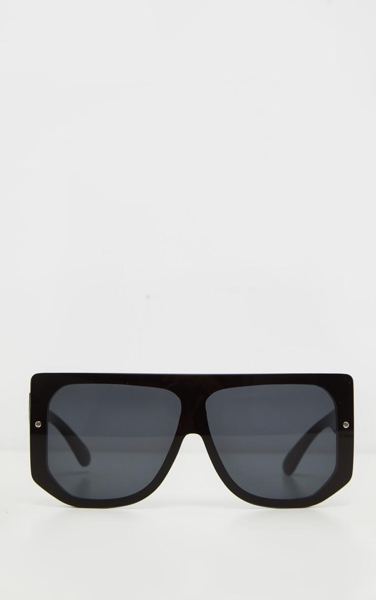 Black Oversized Back Frame Sunglasses 2