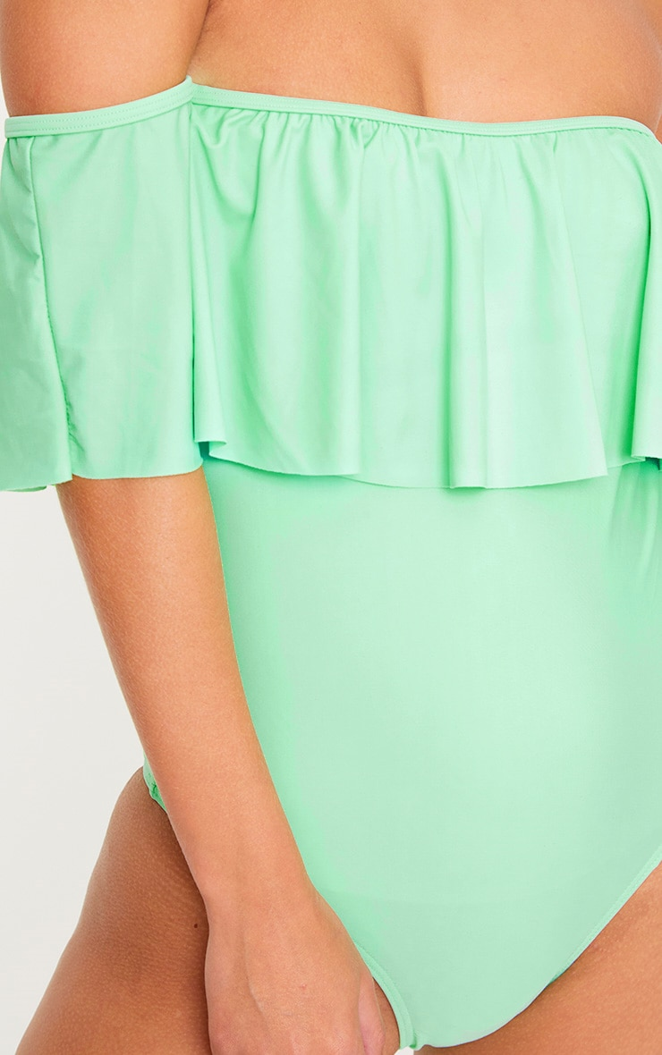 Mia Mint Bardot Frill Swimsuit  4