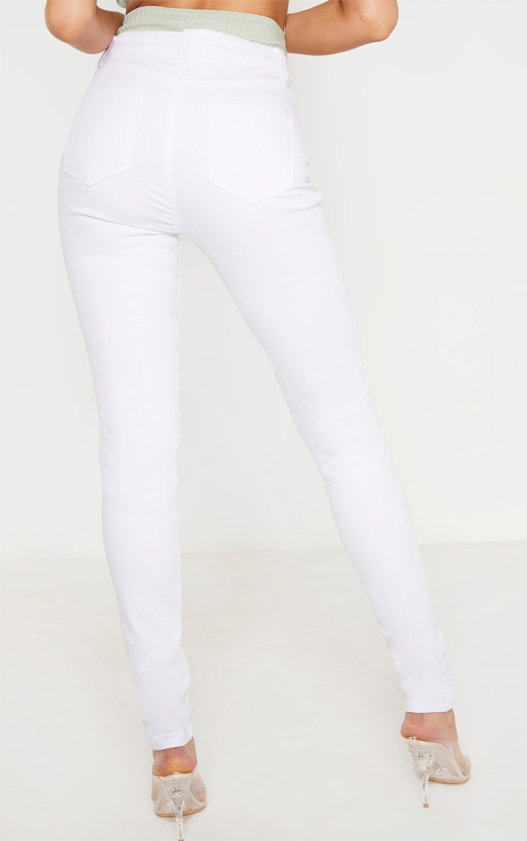 Tall White Super Stretch Skinny Jeans 4