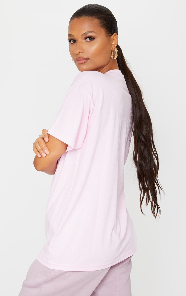 PRETTYLITTLETHING Pale Pink Oversized T Shirt 2