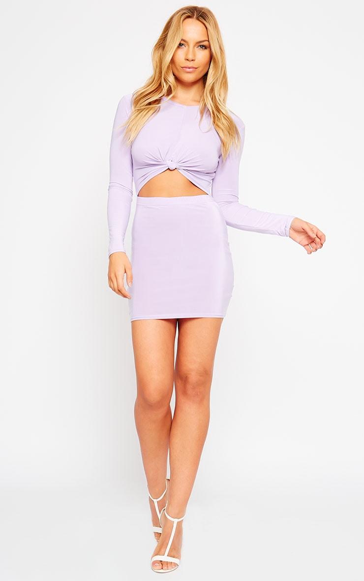 Zafia Lilac Long Sleeve Mini Dress 3