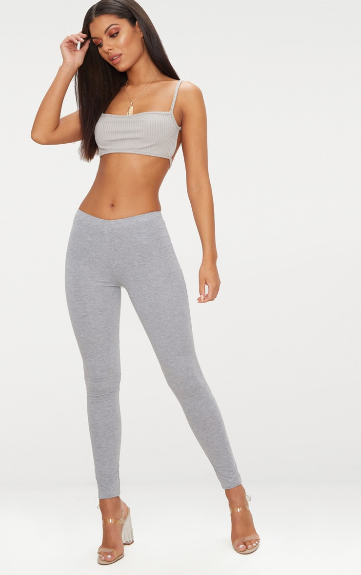 Basic Grey Jersey Leggings 2