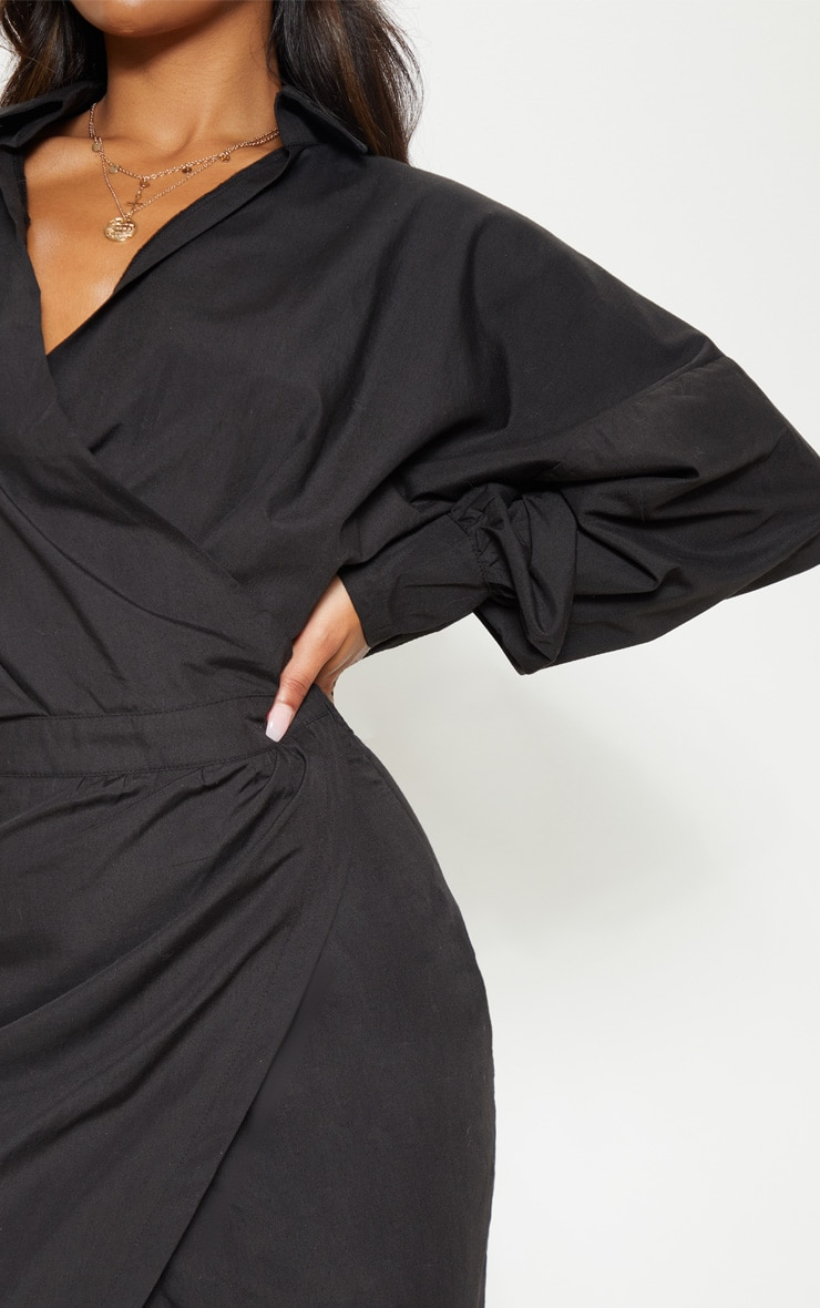 Black Midi Shirt Dress 5