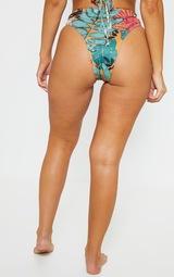 Orange Big Leaf Cheeky Bum Bikini Bottom 4