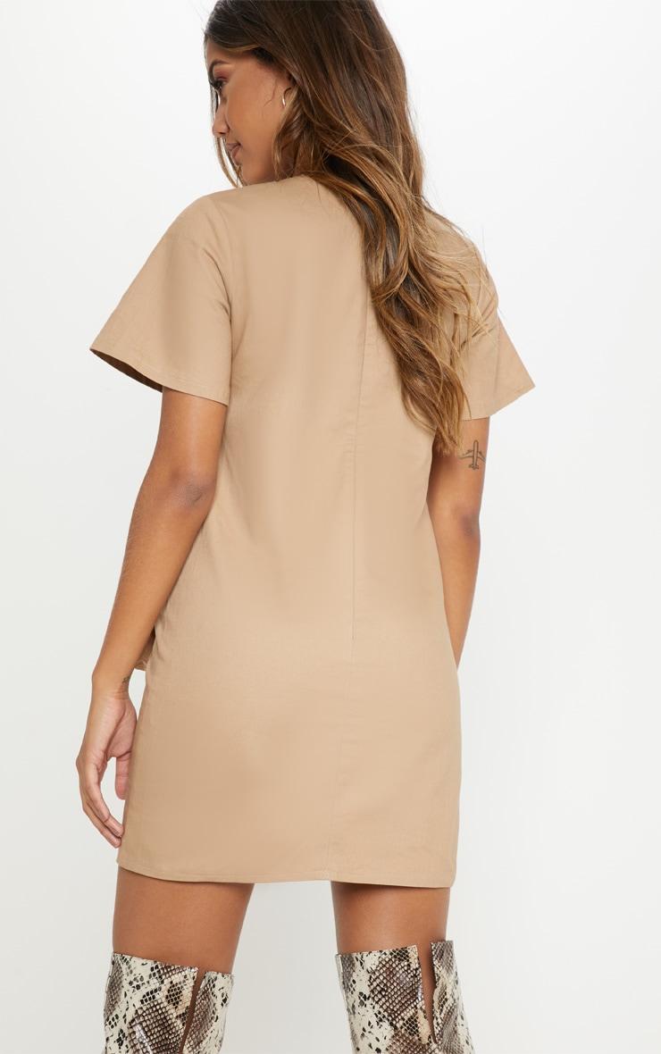 Camel Utility Pocket Shift Dress 2