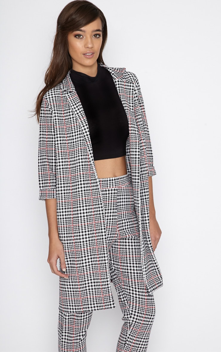 Devon Dogtooth Duster Jacket 5
