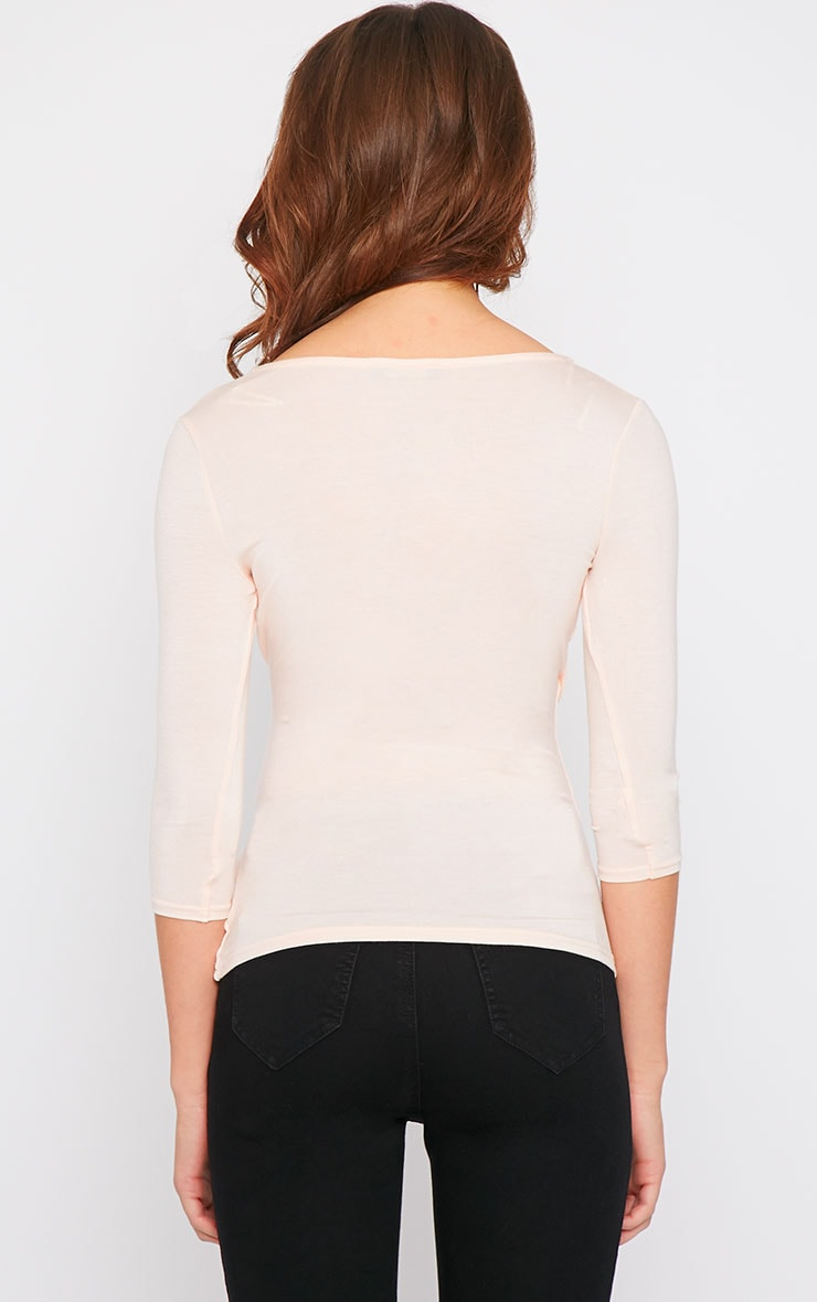 Naila Nude Wrap Over Top  5