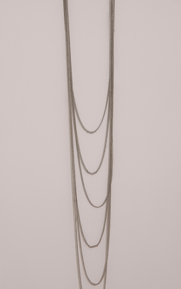 Darcey Silver Chain Drop Necklace 4