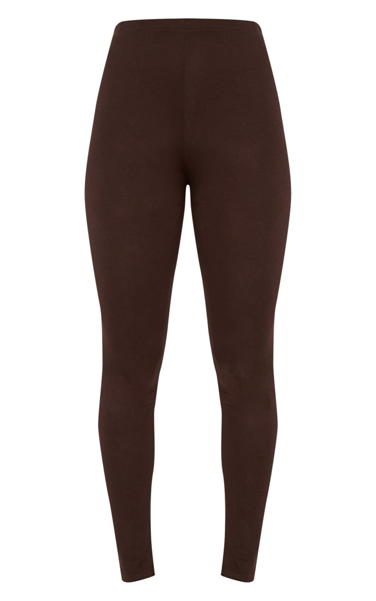 Brown Basic Jersey Legging   3