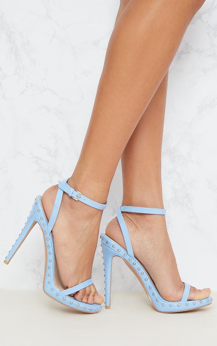 Blue Studded Strappy Sandal