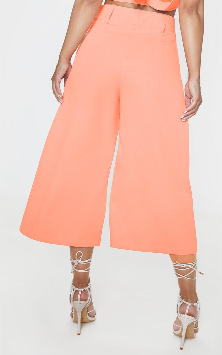 Petite Peach  High Waisted Culottes 4