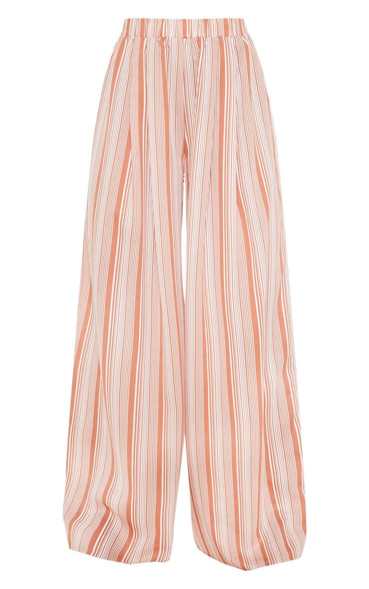 Rust Striped Wide Leg Trouser 3