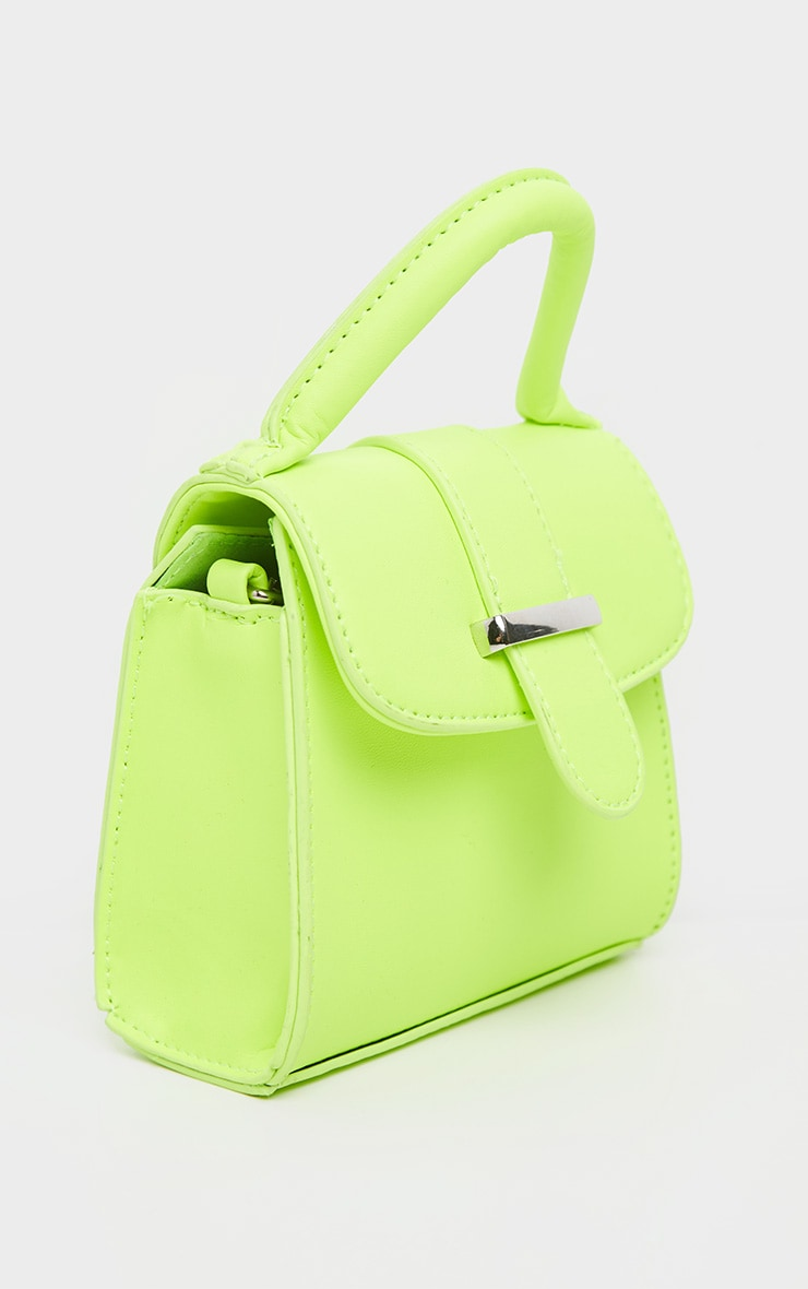 Neon Lime One Handle Mini Grab Bag 4