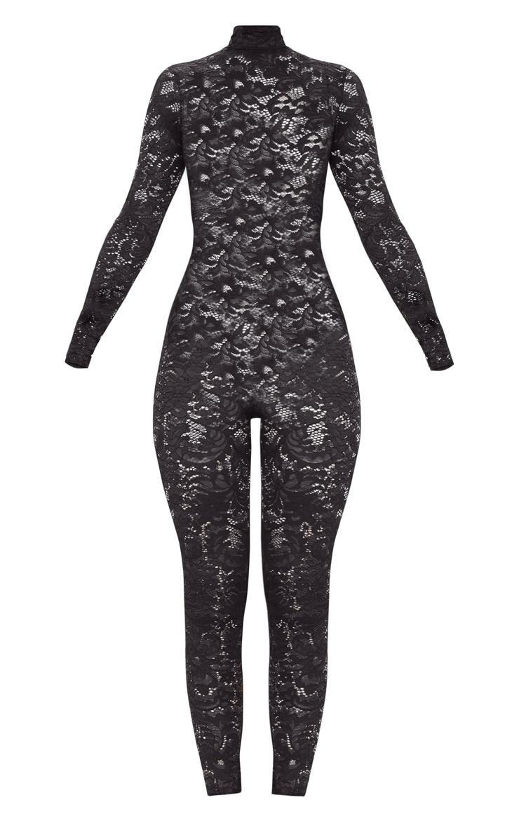 Black Lace High Neck Jumpsuit 3