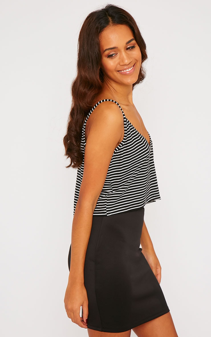 Edith Black Stripe Crop Top 4