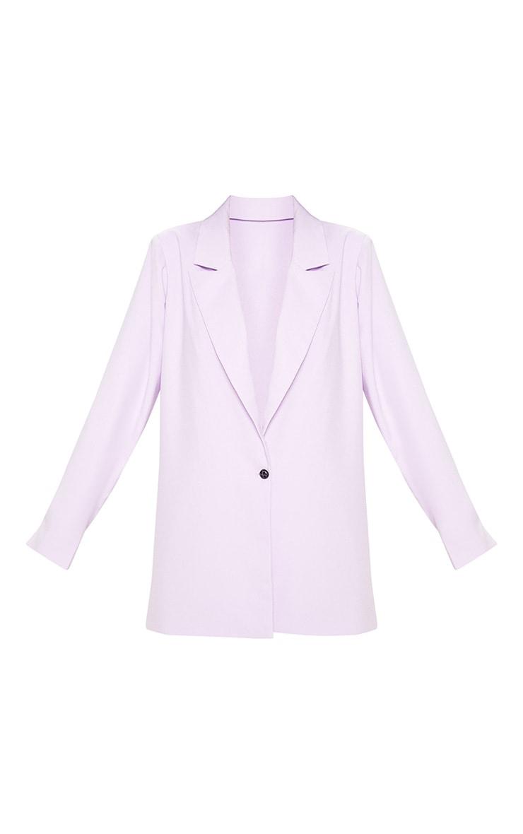 Lilac Super Oversized Woven Blazer    3