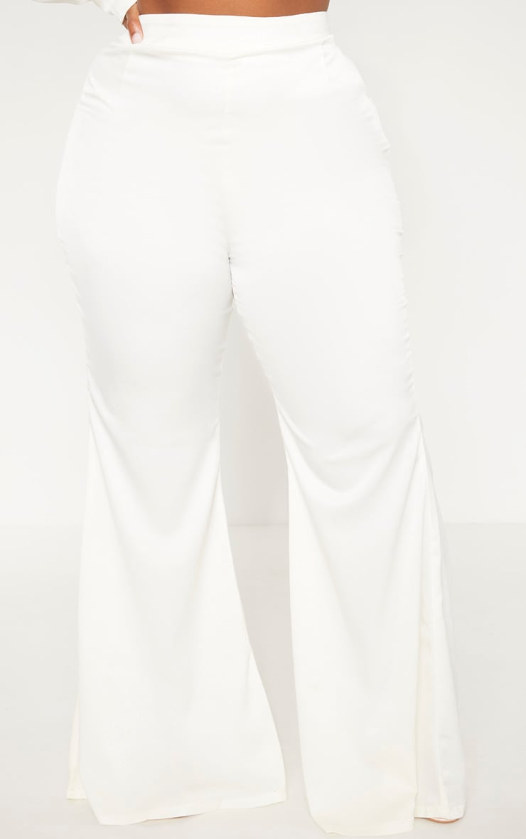 Plus Cream Tailored Extreme Flared Trouser 2
