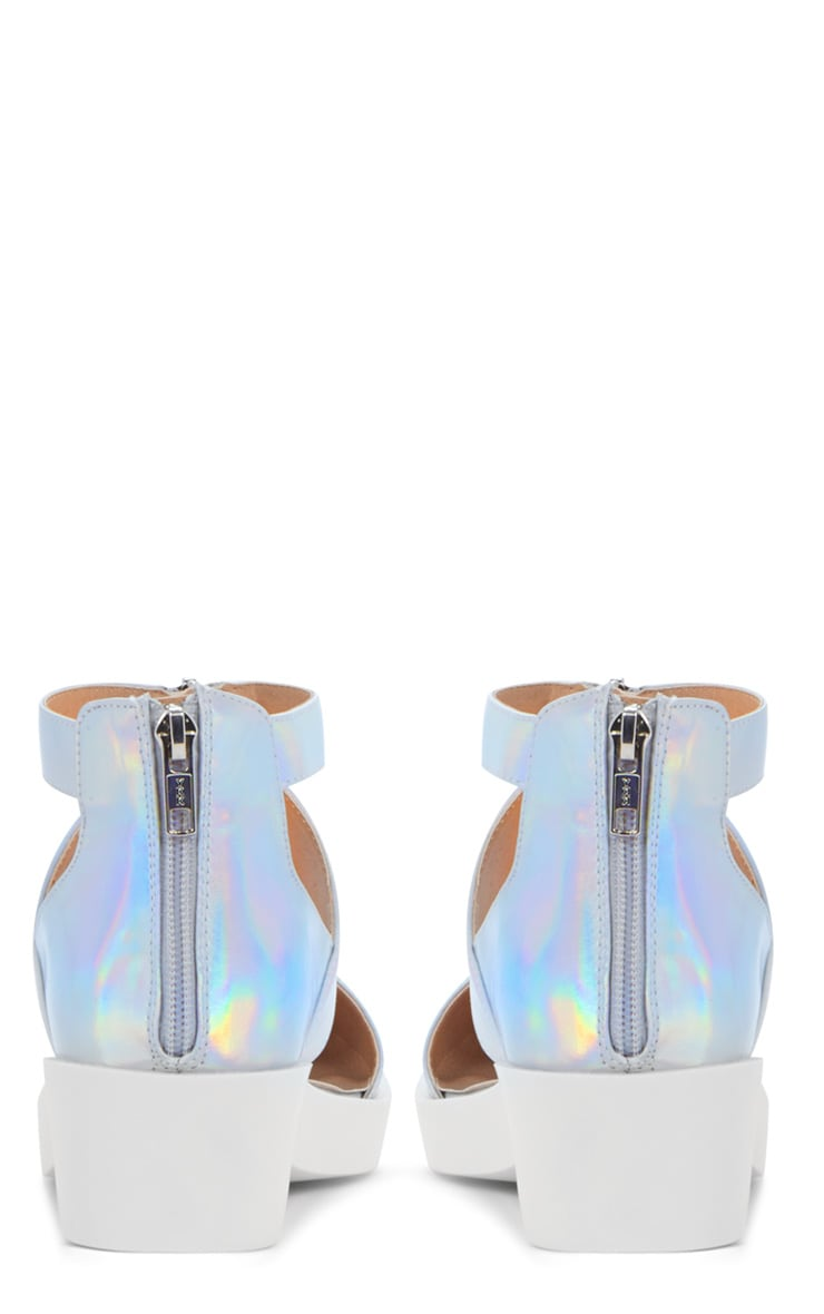Sage Holographic Cut Out Pointed Shoe 2