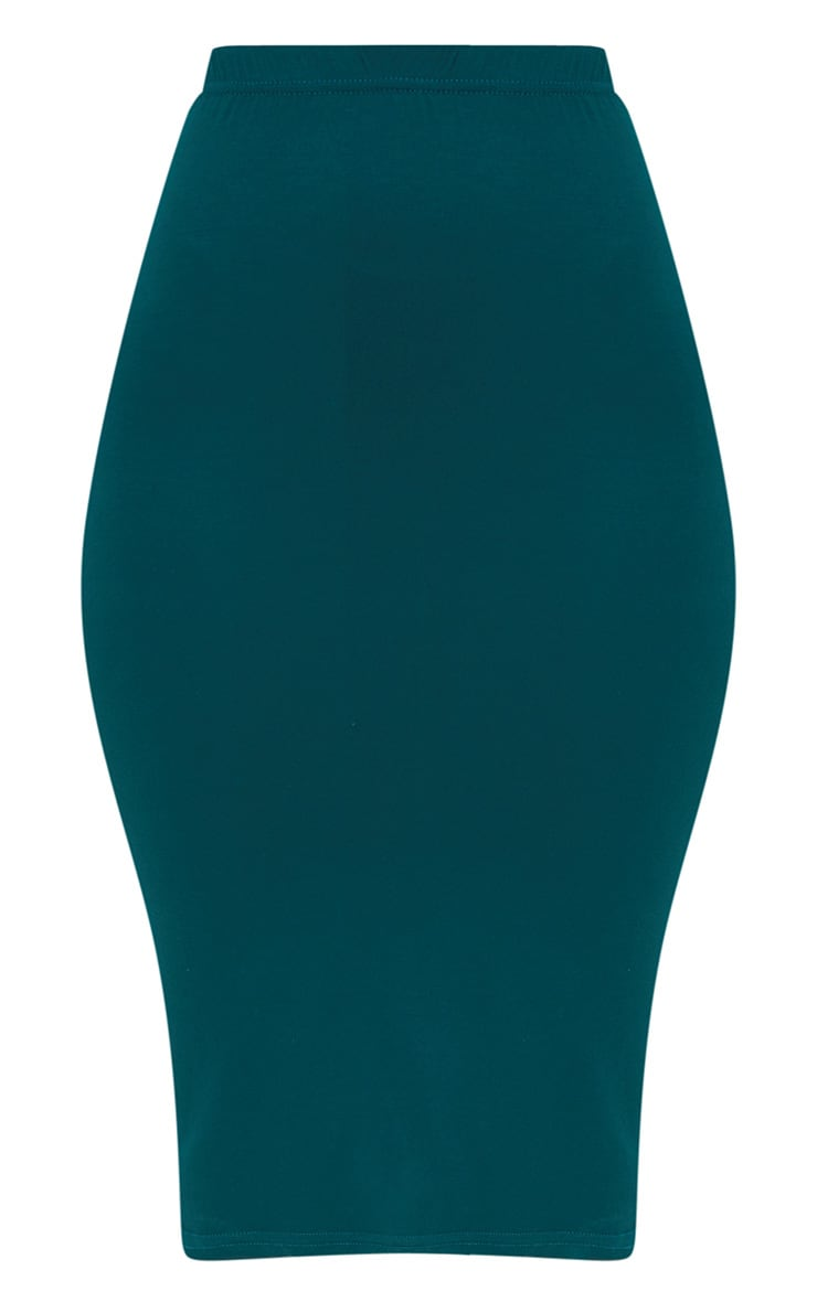Taupe & Emerald Green 2 Pack Jersey Midi Skirt 4