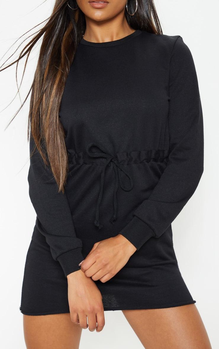 Suzanne Black Tie Waist Sweater Dress 5