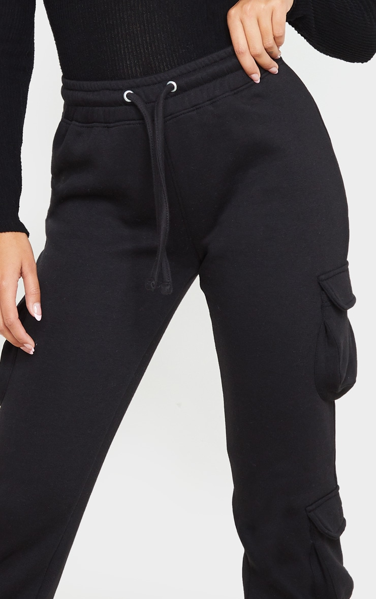 Black Pocket Detail Joggers 5
