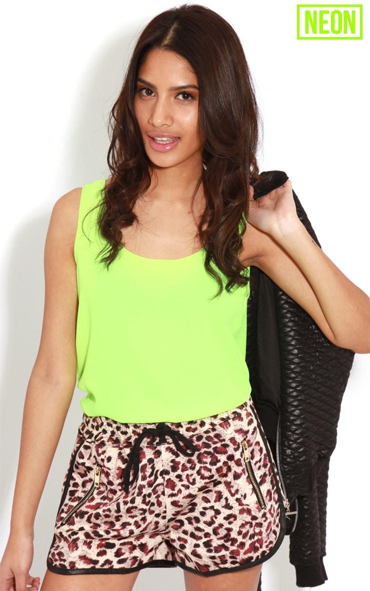 Kylee Neon Lime Silk Effect Vest 4