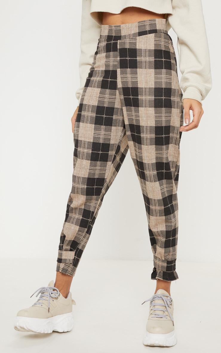 Monochrome Check Peg Leg Pants 2