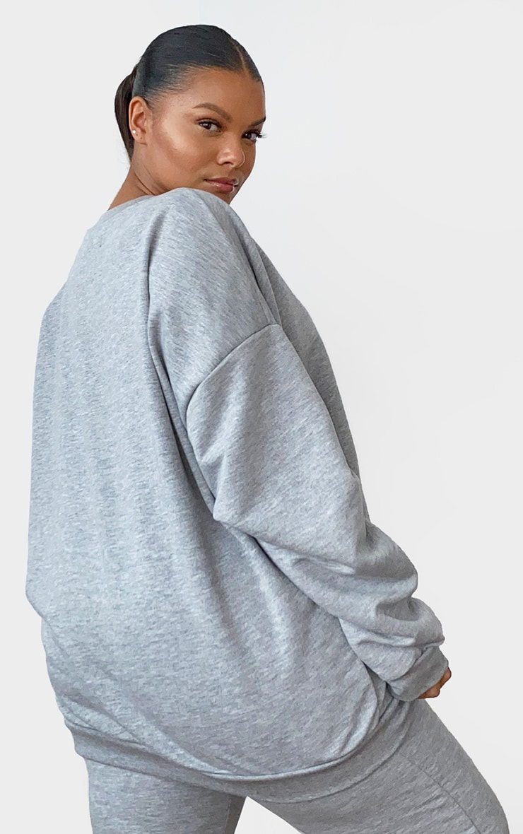 Plus Grey Marl Ultimate Oversized Sweater 2