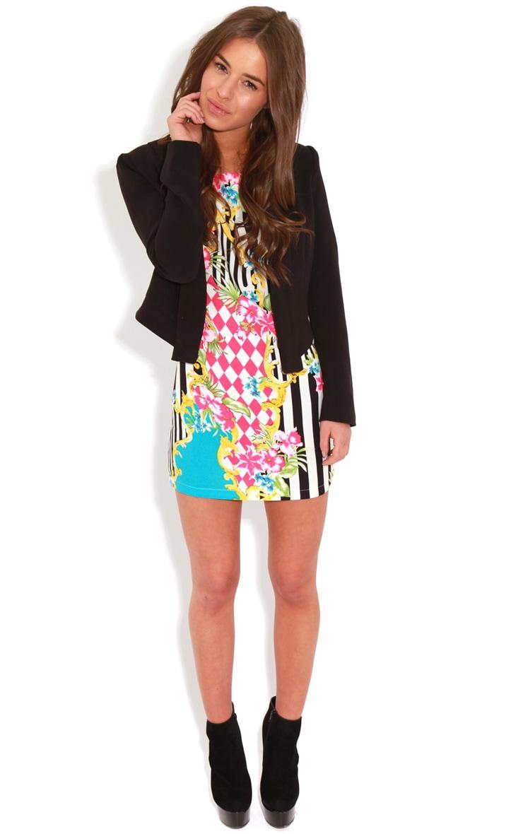 Annabella Floral Stripe Shift Dress 3