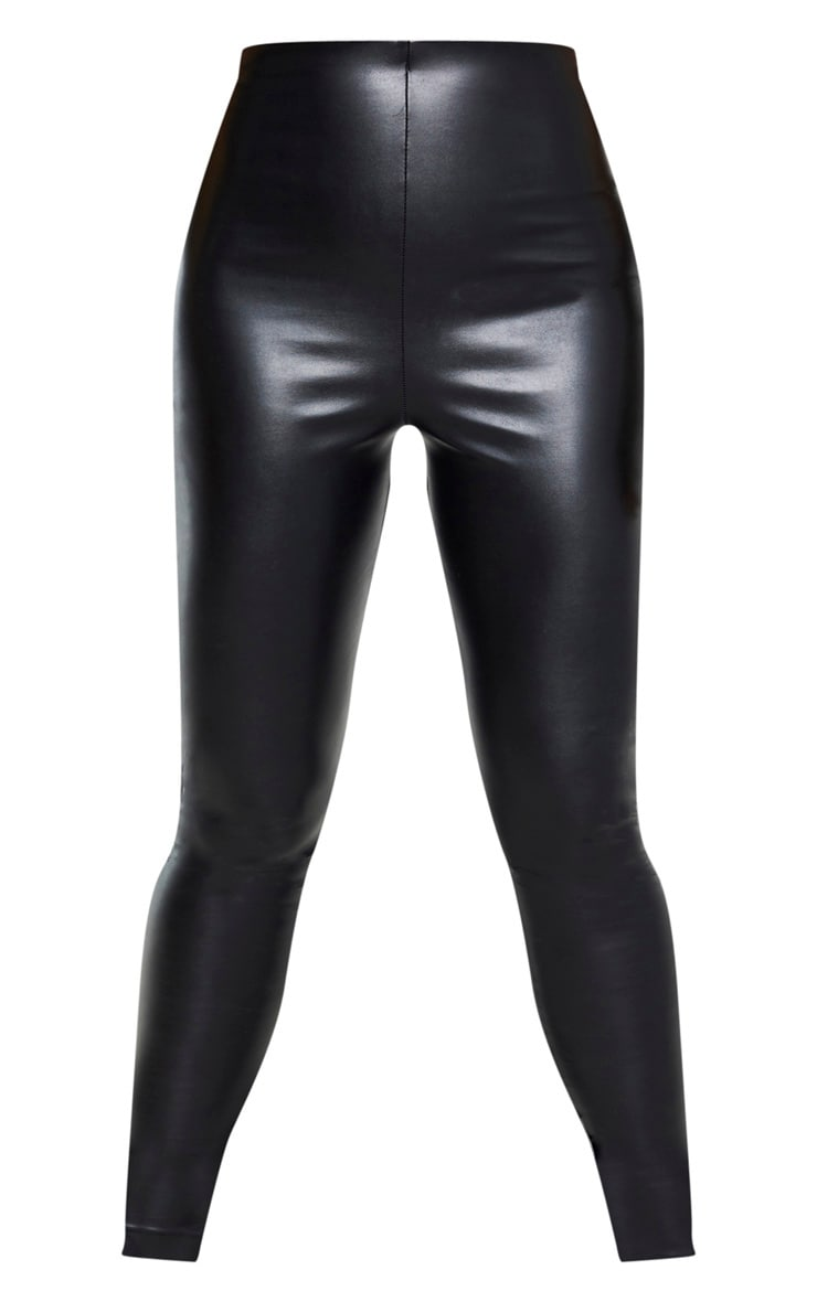 Tall Black Faux Leather High Waisted Legging 4
