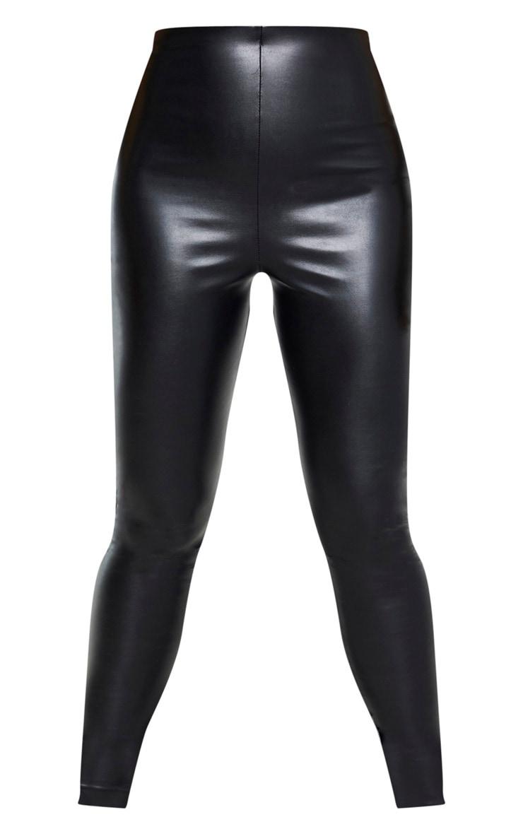 Tall - Legging taille haute en similicuir noir 3