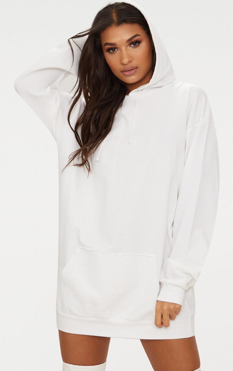 ad978ce07c2 White Oversized Hoodie Dress image 1