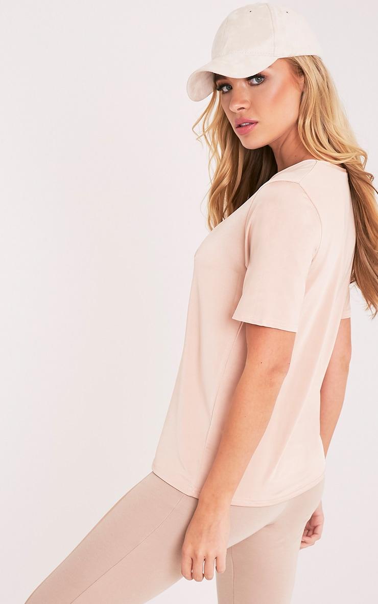 Gaia Nude Slinky V Neck T Shirt 4