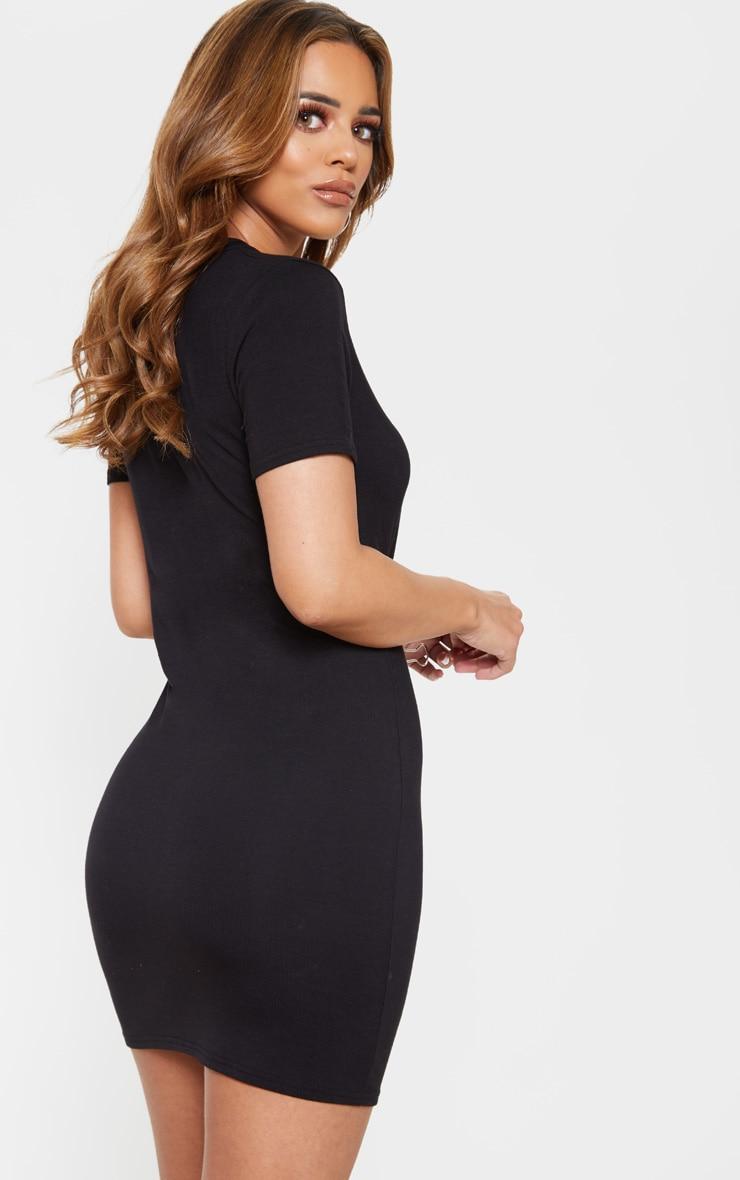 Petite Black Short Sleeve Jersey Dress 2