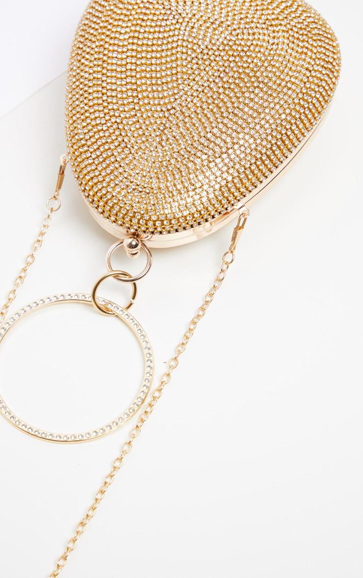 Gold Diamante Oval Bag 4