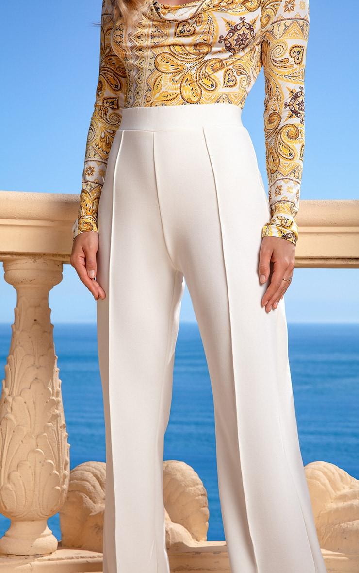 Cream Wide Leg Pants 5