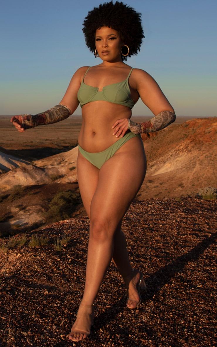 Plus Jade Mini Front Bikini Bottoms 1