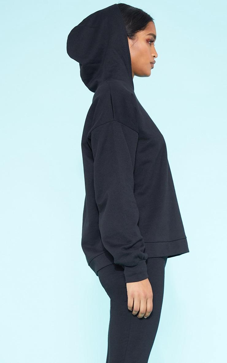 PLT Recycle - Hoodie noir oversize 2