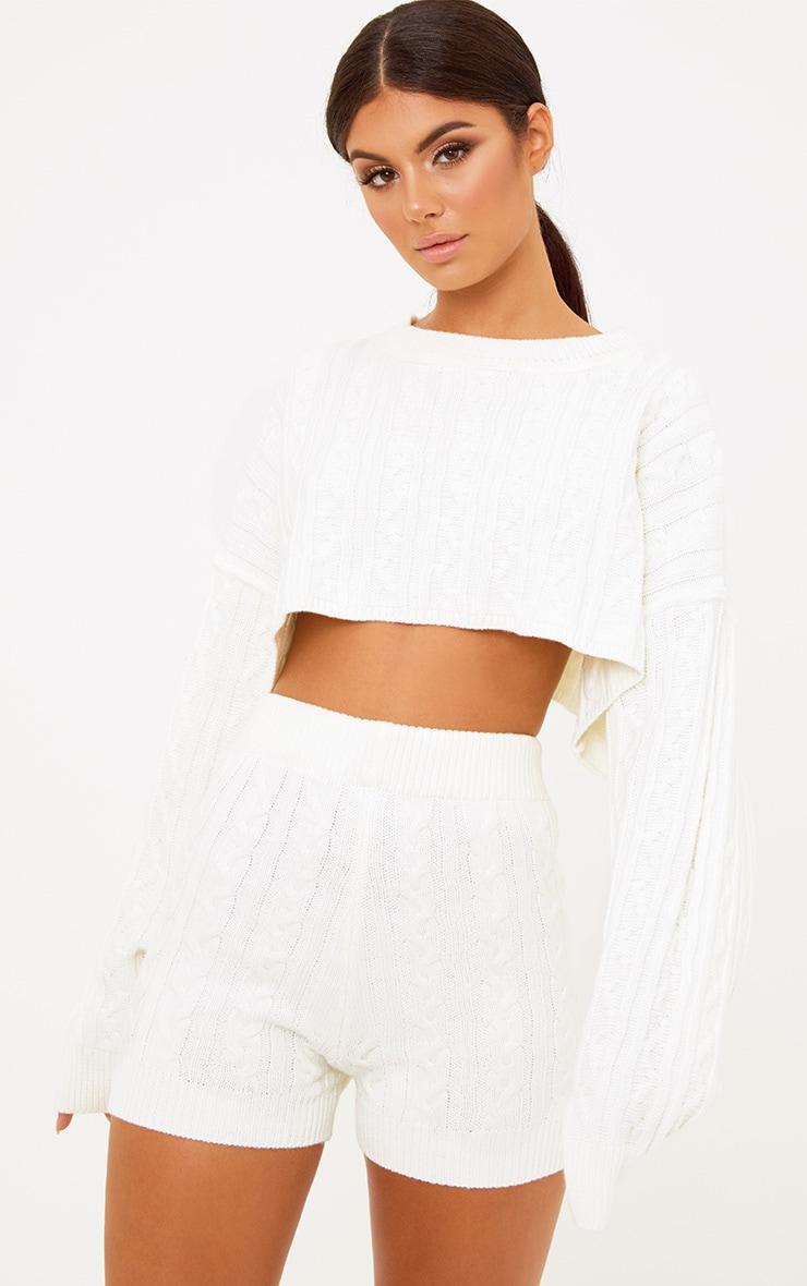 Cream Knit Short 2