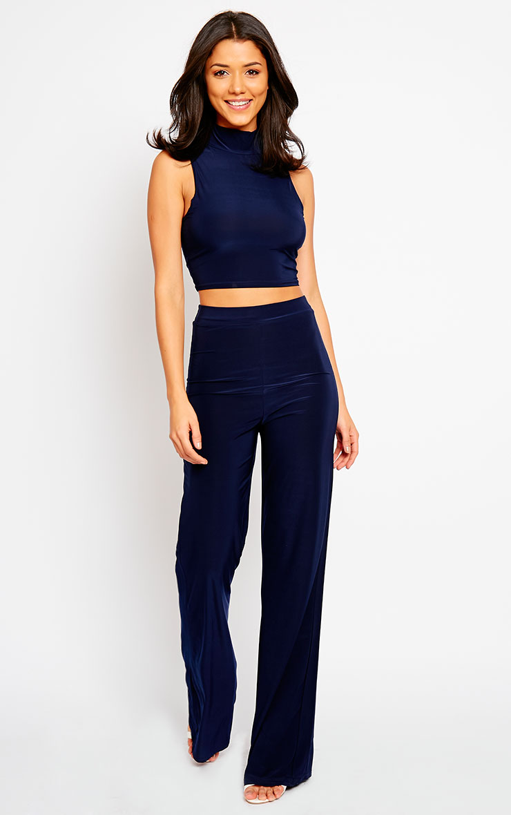 Remi Navy Soft Touch Crop Top 3