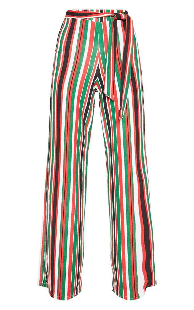 Multi Tie Waist Stripe Wide Leg Trouser 3