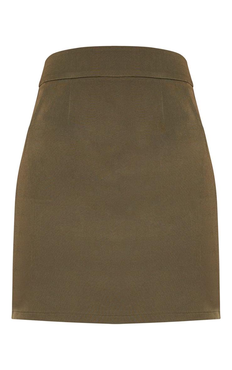 Khaki Woven Pocket Mini Skirt 3