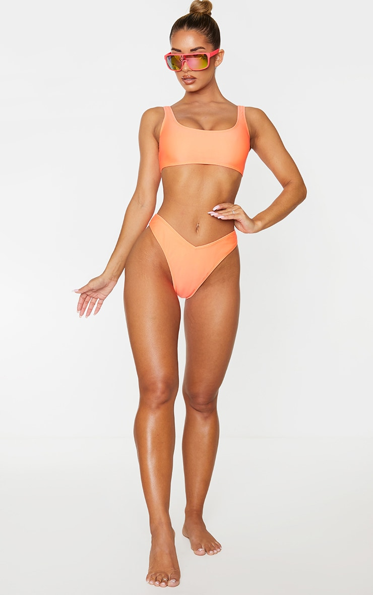 Coral Mix & Match V Front Bikini Bottoms 4