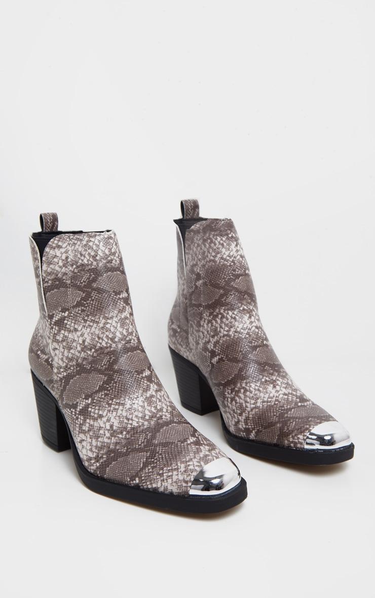 Snake Wide Fit Metal Toe Western Boot 3