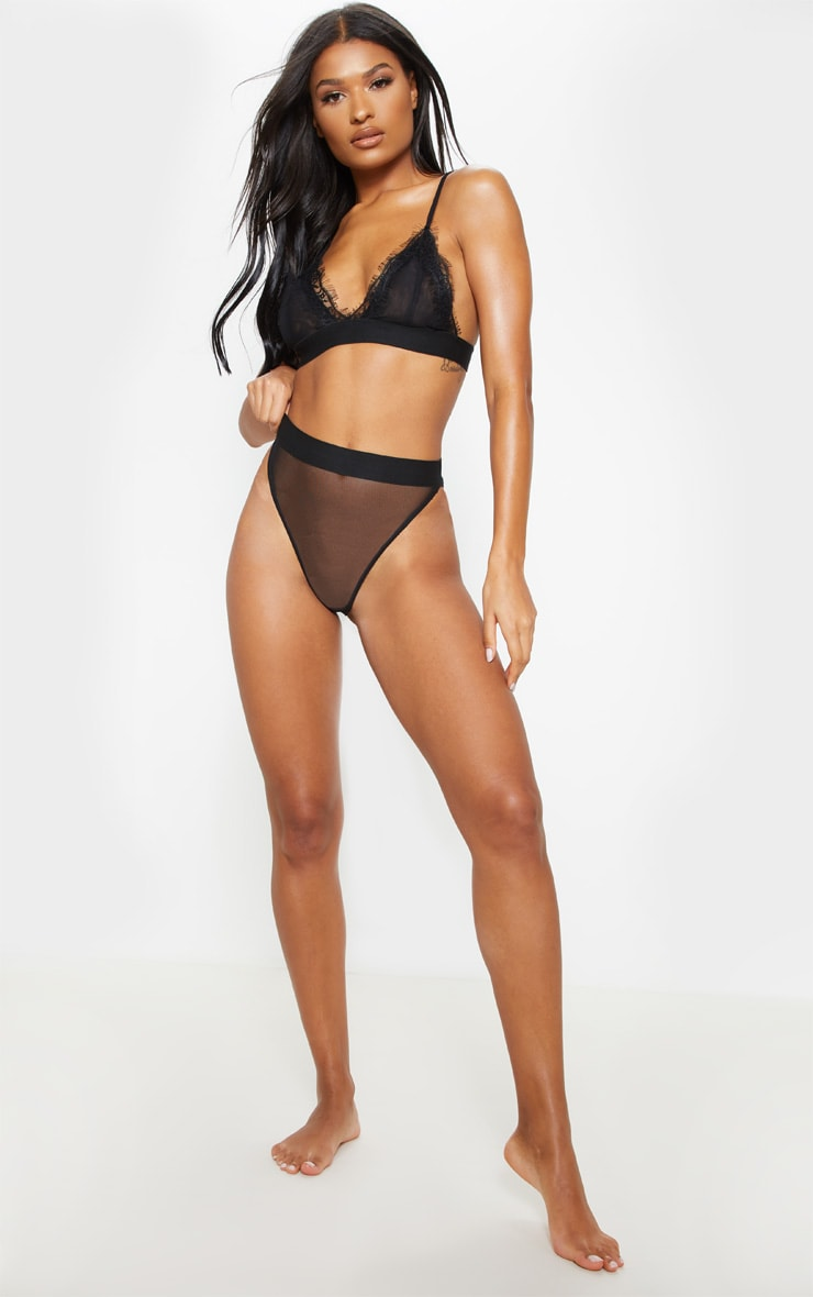 Black Mesh Brazilian Panties 5