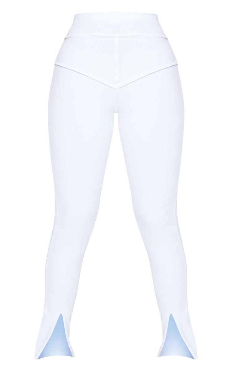Petite White Cotton Seam Detail Legging 5