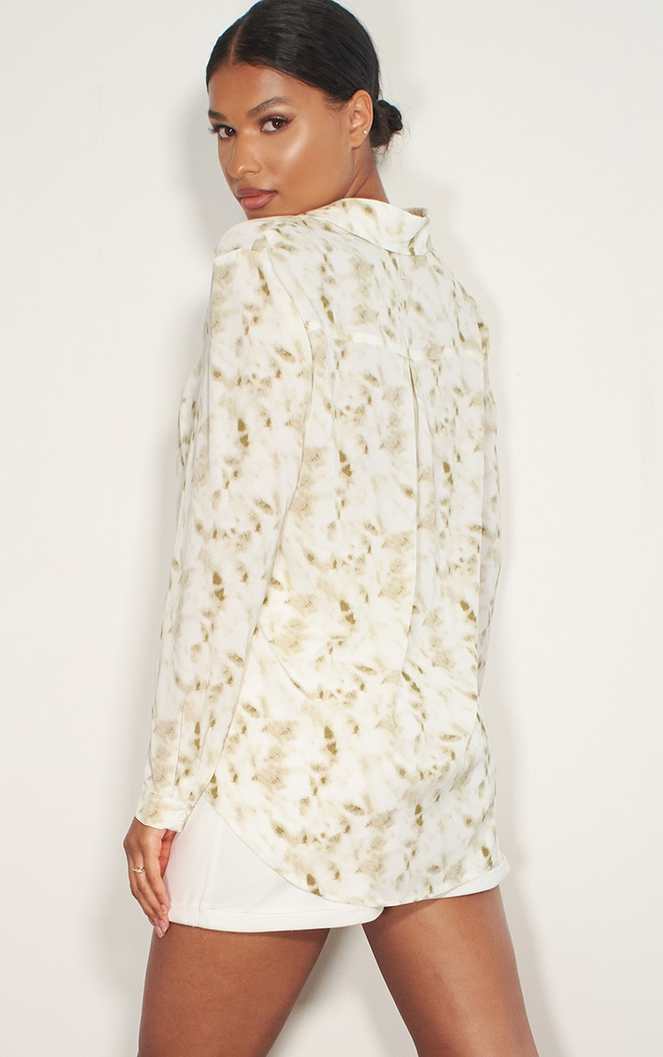 White Tie Dye Oversized Shirt 2