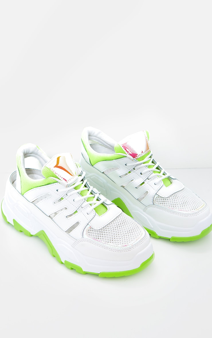 Lime Chunky Sole Detail Trainers 2